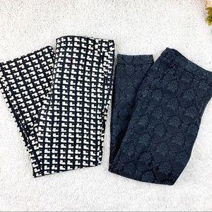 Zara basic career print/embroidered pants bundle